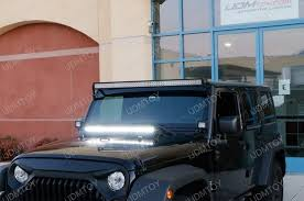 led light bar jeep wrangler 2007 2017 jeep wrangler jk 150w high power cree led light bar kit