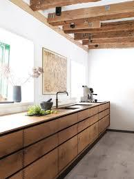 meuble cuisines facade meuble cuisine bois brut beau cuisine bois de recup