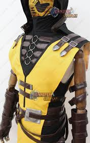 Scorpion Costume Mortal Kombat X Scorpion Cosplay Costume With Mask Ebay