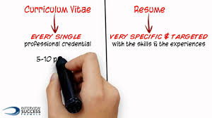 Resume And Resume What U0027s The Difference Between A Cv And A Resume Youtube
