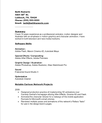 Skills And Abilities For Resume Sample by Professional Animator And Project Artist Resume Sample Helpful