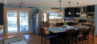 small kitchen open floor plan wood floors