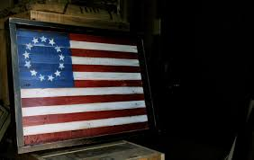wooden wall vintage american flag wall reclaimed