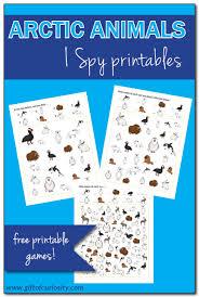 arctic animals i spy free printables gift of curiosity