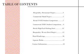 nursing portfolio table of contents template plymouth dome
