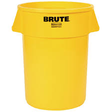 charming rubbermaid brute trash can with nice 20 gallon yellow