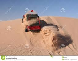dune jeep red jeep driving up sand dune stock image image 7382821