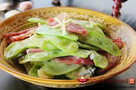cuisiner des pois mange tout pois mange tout au jambon cant recette chinoise