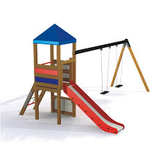 Double Swing Double Swing With Tower Swings Playground Equipment Lars Laj