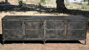 Media Console With Hutch Buy A Hand Made Buffet Hutch All Steel Reclaimed Wood Avail