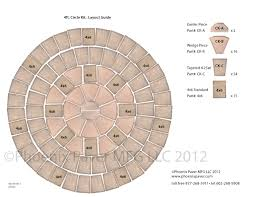 Paver Patio Kits Pavers Circle Kit 4ft Layout Guide Photo