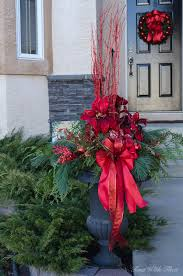 Christmas Decoration Outdoor Diy by Outdoor Christmas Planter Diy Decorating Tips Time With Thea