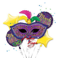 marti gras masks mardi gras mask bouquet balloon