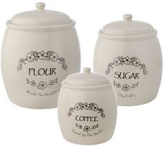 kitchen ceramic canister sets paula deen 3 ceramic canister set page 1 qvc
