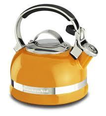 Yellow Kitchen Aid - tea kettle kitchenaid tea kettle yellow kitchenaid 2 qt tea