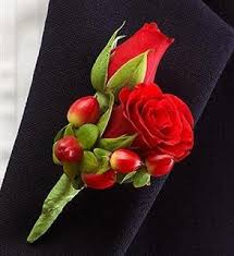 Rose Boutonniere Red Rose Boutonniere Weddings