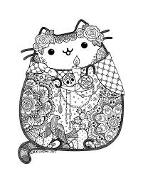 dia de los muertos pusheen zentangle doodles mandalas