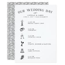wedding itinerary wedding itinerary invitations announcements zazzle