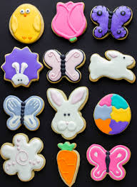 Easter Sugar Cookies Decorated with Royal Icing The Cookie Writer