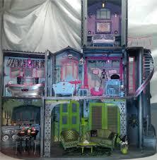 Monster High Doll House Furniture Ooak Custom Monster High Doll House W Furniture