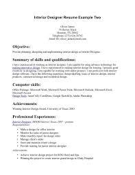 resume objectives exle interior design sle resume pretty designer exle two page home