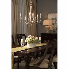 Alternative Dining Room Ideas by Lighting Chic Dark Brown Wooden Table Under The Chis Quoizel