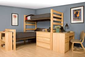 Dorm Room With Bunk Bed And Wooden Desk Good Dorm Room Furniture - Dorm bunk bed