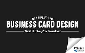 5 tips for business card design plus free template download