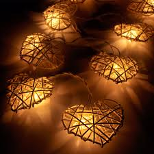 Ebay String Lights by Gaiashine 20 35 Plug Or Led Battery Operated Rattan Heart String