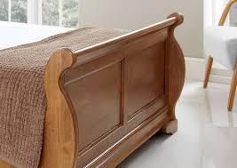 Oak Headboard King Toulouse Oak Wooden Sleigh Bed King Size Bed Frame Only 699 00