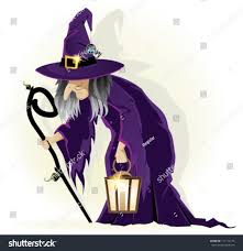 cartoon halloween background scary old witch lantern on white stock vector 111114176 shutterstock