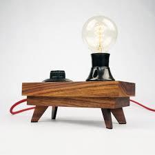 walnut table lamp u0027dial u0027 u2013 edison g80 and bakelite parts u2013 crowdyhouse