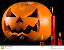 halloween theme background scary pumpkin jack lantern pumpkin halloween red candles on a