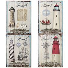 wall decor wood plaques newest mediterranean style rustic nautical lighthouse pattern wood
