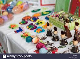 easter decorations on sale handmade easter decorations on a sale table stock photo 103636017