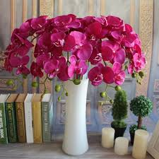 flowers home decor 3 colors artificial butterfly orchid flower simulation flowers silk