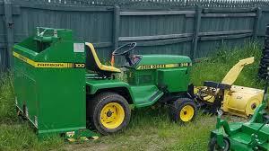 John Deere 71 Planter by John Deere 318 Garden Tractor With Snow Blower And Zamboni 100 In