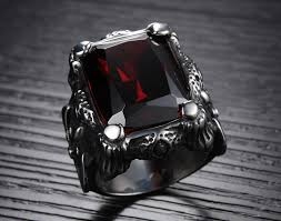 ruby rings sale images Ring p vintage men s titanium stainless steel ruby ring awesome jp