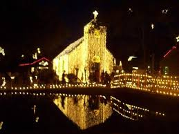 Church Lights Acadian Village Christmas Lights On The Church Picture Of