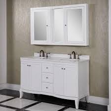 Abbey 60 Inch Vanity Carrara White Marble Top 60 Inch Double Sink Bathroom Vanity With Wall