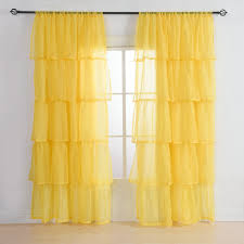 White And Yellow Curtains White Country Ruffled Curtains Country Ruffled Curtains For Your