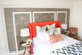 how do you make an upholstered headboard sarah m dorsey designs diy coral upholstered headboard with