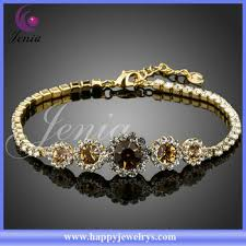 crystal gold bracelet images Classical design top quality beautiful bracelet with crystal gold jpg