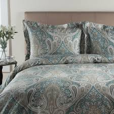 collection 300 thread count sateen crystal paisley duvet cover set