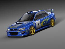 subaru sti rally car car sport subaru impreza 3d max