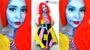 sally nightmare before christmas makeup tutorial u0026 costume with