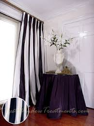 Two Tone Curtains Thai Silk Pleated Draperies In Two Tone White And Black