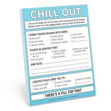 From The Desk Of Notepad Knock Knock Chill Out Nifty Notepad Knockknockstuff Com