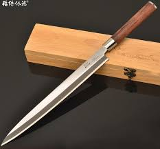 buck kitchen knives sashayed sushi sashimi knife slicer rosewood handle