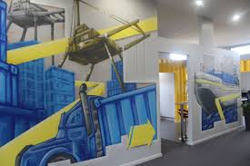 graffiti art inside our shipping container office great way to